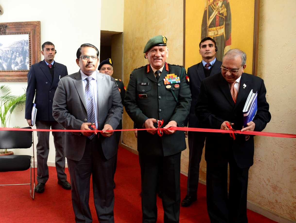 General Bipin Rawat, COAS inaugurating the exhibition at ARTECH 2018 in New Delhi on 08 January 2018