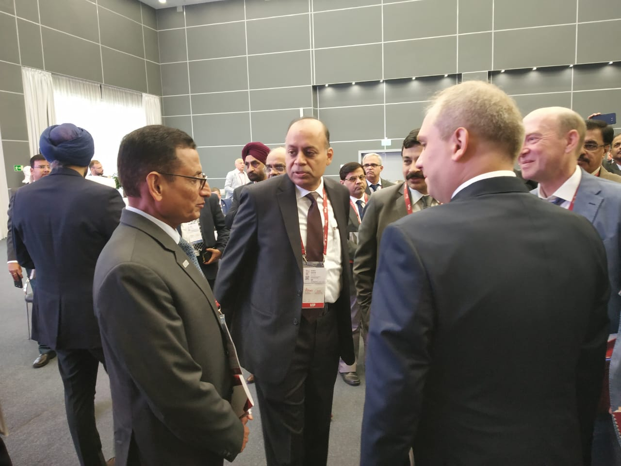 DG SIDM with Secretary (DP) and members of the Russian delegation at the International Military Technical Forum ARMY 2018, Moscow